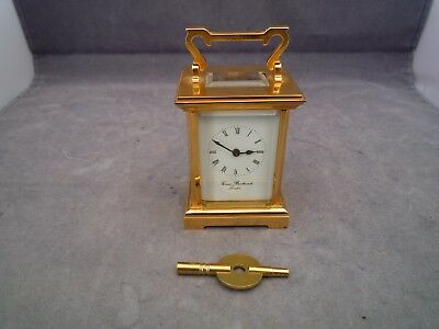 Carriage Clock Thomas Braithwaite London 11 Jewels 4 Inch High To Handle Top
