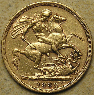 Great Britain: 1889 Queen Victoria Jubilee-Head Gold Full Sovereign
