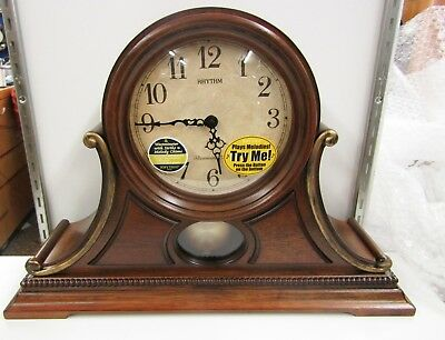 New Wsm Tuscany Ii Mantel Clock Wooden Case 19 Melodies  Crj733Ur06
