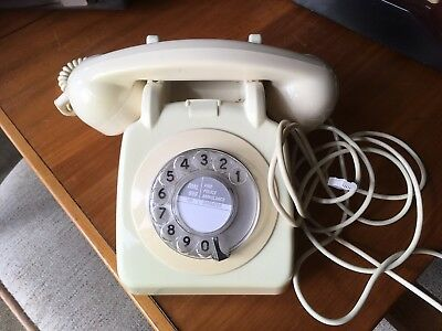 Vintage 1964 GPO BT 706L Cream Dial Ringing Telephone with Modern Plug