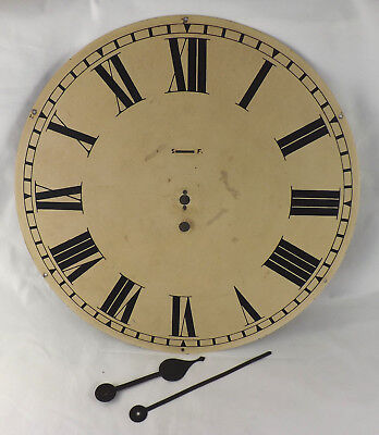 "Military - Raf Size 14"" Fusee Wall Clock Steel Dial & Hands"