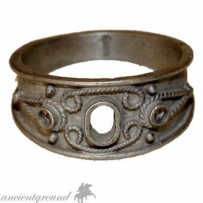 An Amazing Greek Late Medieval Silver Decorated Ring