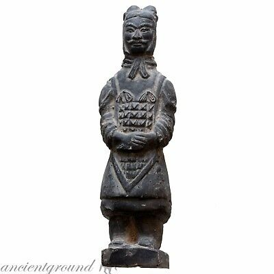 Intact Chinese Ceramic Soldier Statue Circa 1800 Ad