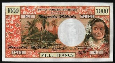 1000 Francs From New Hebrides  M8