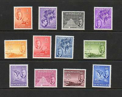 (A654)  SEYCHELLES   GEORGE VI  ALL MNH selection to 1 rupee