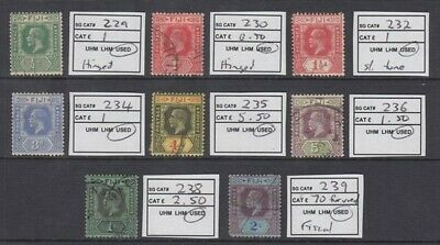 FIJI 1923-27 KGV (x8) DIFFERENT DIE II USED (ID:209/D47700)
