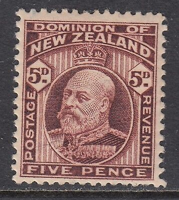 NEW ZEALAND 1916 5d KEVII, Mint Hinged