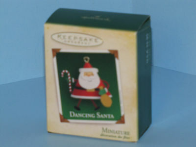 Hallmark Miniature Ornament 2005 Dancing Santa