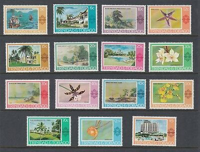 TRINIDAD AND TOBAGO 1976-78 PICTORIALS, set of 15, Mint Never Hinged