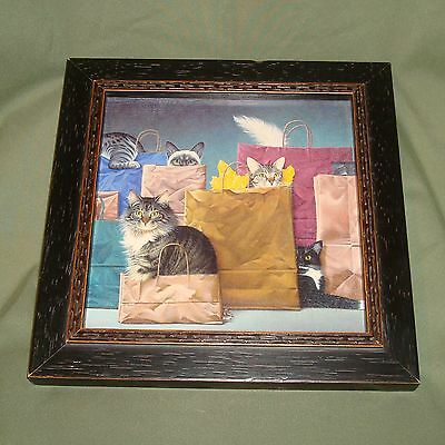 Bag Ladies - Braldt Bralds - Ceramic Tile Framed Cat - Kitten