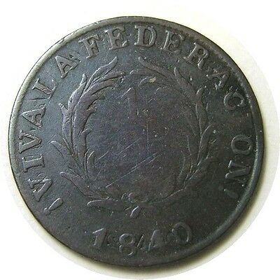 elf Argentina Buenos Aires 1 Real  1840  Double Strike