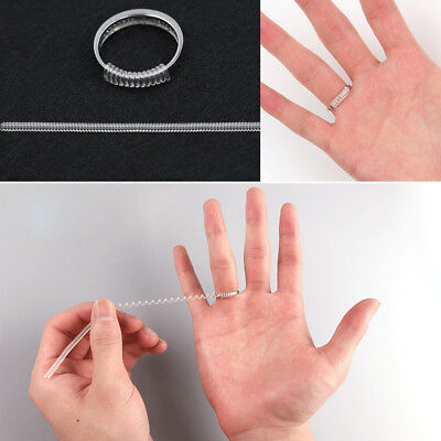 12pcs Invisible Ring Size Adjuster Guard Tightener Reducer Resizing Fitter Tools