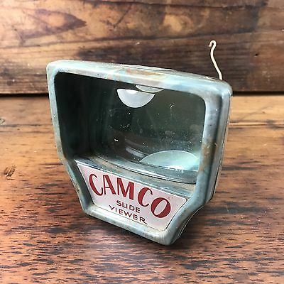 Awesome Rare Vintage Mottled Blue Bakelite Camco Slide Viewer