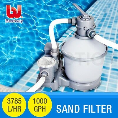 Bestway 1000GPH Flowclear™ Sand Filter Pump Swimming Above Ground Pool Cleaner
