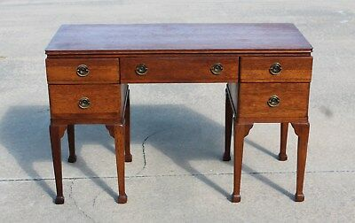 Solid Mahogany Tomlinson High Point NC Flat Top Desk Circa 1940's ~ George Pike
