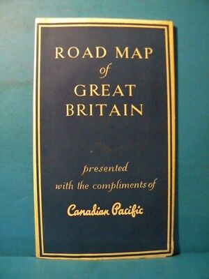 Road Map of Great Britain Canadian Pacific 1959 - 1960