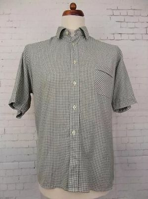 Vintage S-Sleeve Small Check 1970s Shirt Mod Geek -L/XL- CA86
