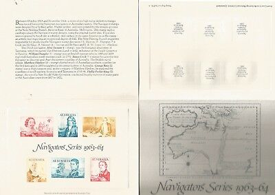 Australia Reproduction Stamps. Replica Card 3, Navigator Series. Nice. See Scan.