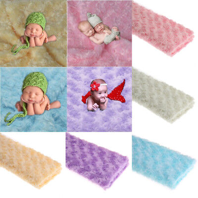 Newborn Baby Photography Props Kids Rose Flower Backdrop Blanket Rug Photoshoot
