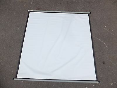 """ROLLEX Johnson Hunter PROJECTOR Screen PROJECTION Portable VINTAGE 66"""" WHITE"""