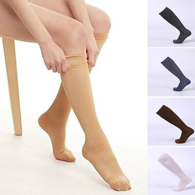 Travel Flight Unisex Socks Medical Compression Support Stockings Closed Toe