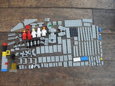 Vintage Space Lego Flat Grey Bricks Astronaught Mini Figures - Small Collection