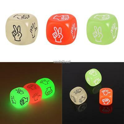 Erotic Dice Game Toy Sex Party Fun Adult Couple Glow in the Dark Luminous WST