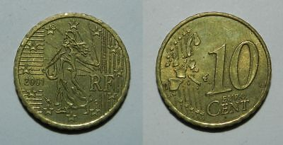 France : 10 Euro Cents 2001