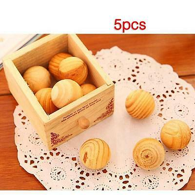 5pcs Cedar Wood Moth Ball Insect Clothes Repellent Eco Friendly Poison Free BN