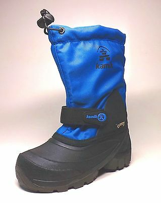 Kamik Waterbug 5G Kids Winter Boots Goretex, Blue, Waterproof