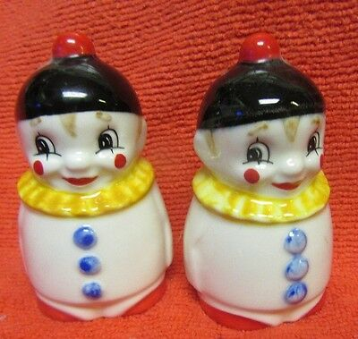 Goebel W. Germany Clown Salt And Pepper Shakers   **adorable**