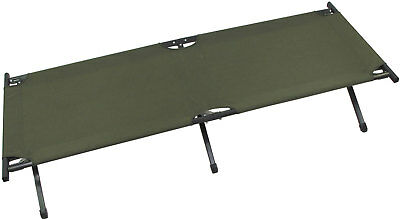 Folding Cot US Type with Alloy Frame, olive including carrying case