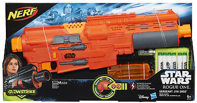 Hasbro Nerf Star Wars Rogue One Jyn Erso Deluxe Blaster with 6 glowing Darts