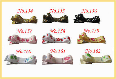 """100 BLESSING Good Girl Boutique Hair Clip 1.75"""" Wreath Bow 198 No.  Hairbow"""