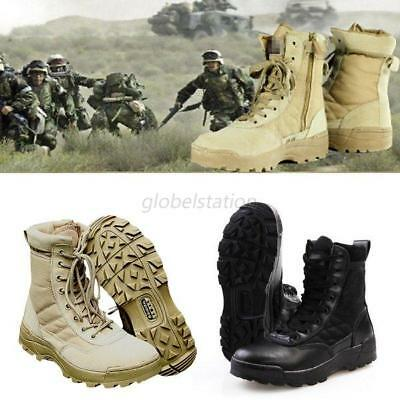 UK Forced Entry Leather Tactical Deployment Boots Military SWAT Boots Duty Work