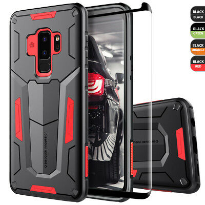 For Samsung Galaxy Note 9 /S9/S8/Plus Case Defender Cover +Black Tempered Glass