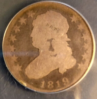 1819 US  Capped Bust Type Quarter AG-3 Condition Coin B-2 Var