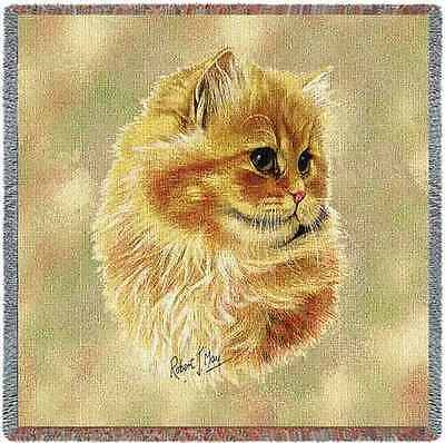 Lap Square Blanket - Cameo Persian Cat by Robert May 1960