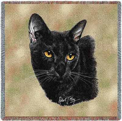 Lap Square Blanket - Bombay Cat by Robert May 1959