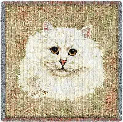 Lap Square Blanket - Chinchilla Persian Cat by Robert May 1951