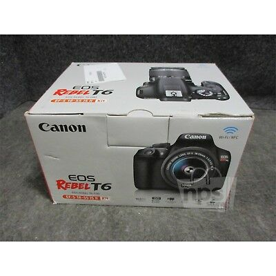 Canon EOS Rebel T6 DSLR Camera With EF-S 18-55mm IS II Lens Kit 18MP
