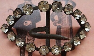 Antique Victorian stunning Shoe Buckle with  clear Rhinestones