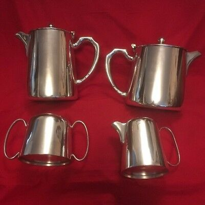 Vintage Silver Plated 4 Piece Hotel Teaset By Unett Plate c.1930's