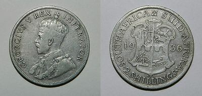 South Africa : Silver 2 Shillings 1936