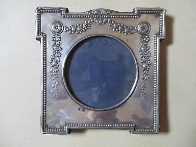 Edwardian Silver Photo Frame, In Need Of Some Attention