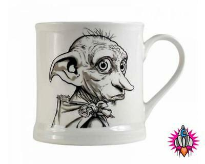 Harry Potter Dobby Is A Free Elf Vintage Style Coffee Mug Cup New & Gift Box