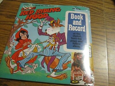 Peter Pan Book And 45 Rpm Record Little Red Riding Hood  1938    Never Opened