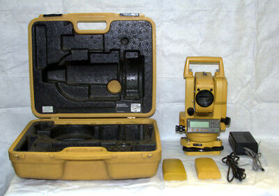 Topcon Total Station Gts 223 / 2 Batteries / Hard Case