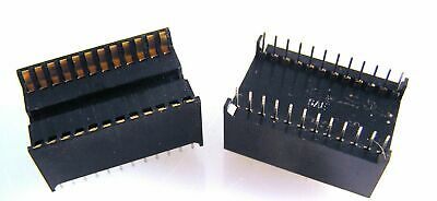 "SAE CTB 3910-24S DIL IC Socket 24 Pin 0.6"" Heavy Duty 2 Pieces OMA097A"