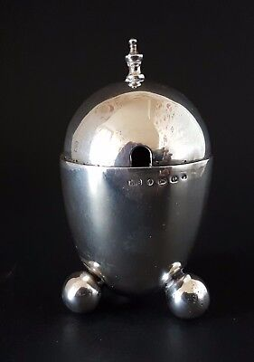 Stylish Victorian h/m Solid Silver Mustard Pot 1874